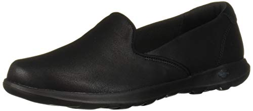 Skechers Women's GO Walk LITE-QUEENLY Loafer Flat, Black, 10 Narrow US