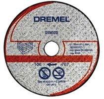 Dremel DSM520 Mauerwerk-Trennscheiben Zubehörsatz (für Dremel Kompakt-Kreissäge DSM20 mit 2 Trennscheiben 77mm zum Schneiden und Trennen von Ziegelstein sowie Trockenbauplatten/Gipskarton)