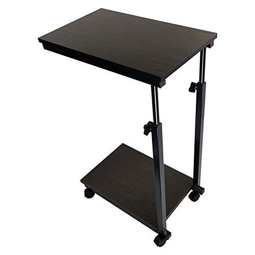 KKTONER Mesa para computadora portátil mesa auxiliar con ruedas mesa plegable auxiliar altura ajustable mesa de café pequeño libro en la cama o sofá mesa de desayuno