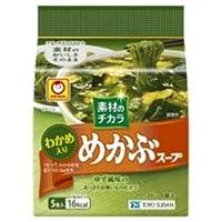東洋水産 マルちゃん 素材のチカラ めかぶスープ (4.7g×5食)×6袋入
