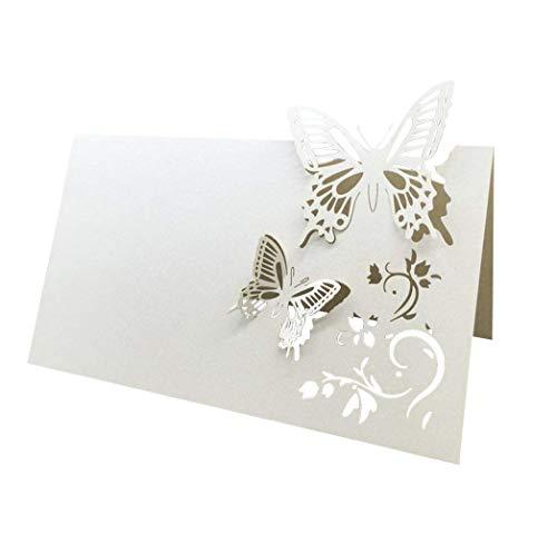 Toyvian - Marcadores de mesa, diseño de mariposa, para bodas, mesas, decoración...
