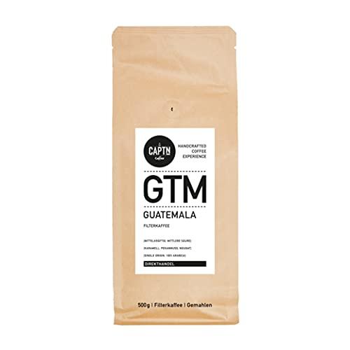 Guatemala Kaffee Gemahlen   100 % Arabica Single Origin   500 G   Direkt Gehandelt   Schonend Trommelgeröstet   Handverpackt   Filterkaffee   Premium Qualität   Ideal als Geschenk