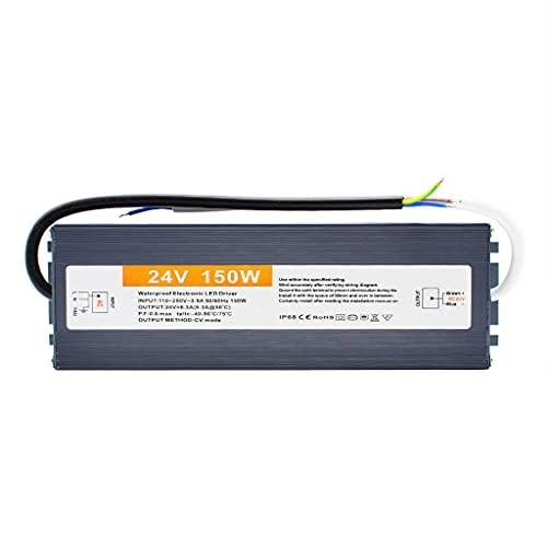 Conductor de Transformador de Iluminación Exterior 24V 150W IP67 Impermeable La Tira de LED Fuente de Alimentación