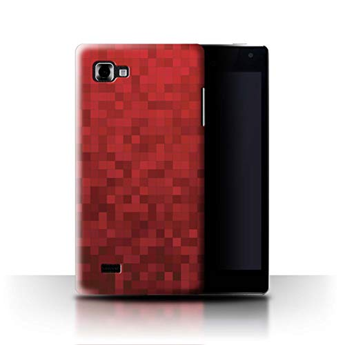Stuff4® Coque de Coque pour LG Optimus 4X HD P880 / Tigre Rouge Design/Camouflage Motif Pixel Collection