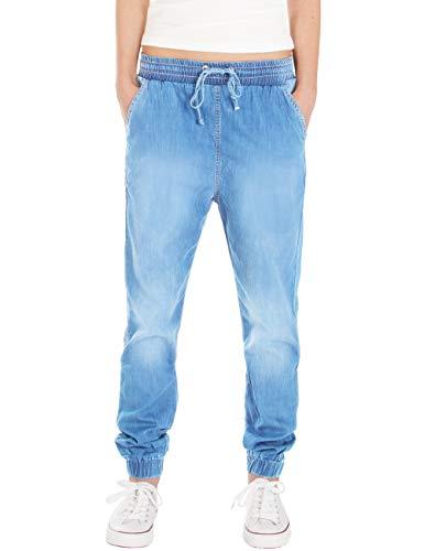 Fraternel Damen Stoffhose Jogg Jeans Pluderhose Hellblau L / 40 - W31