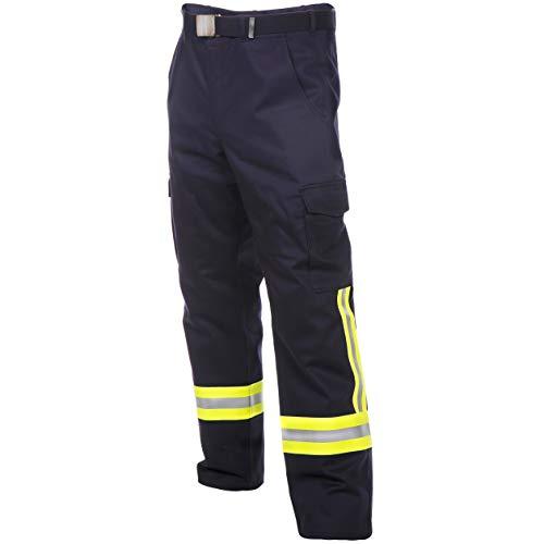 Feuerwehr Bundhose nach HuPF Teil 2mit Reflex nach DGUV-Empfehlung (wie Überhosen) mit Gürtel Gr. 52
