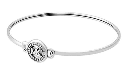 Michael Kors Mkjx6520040 Silver-Tone Logo Bracelet