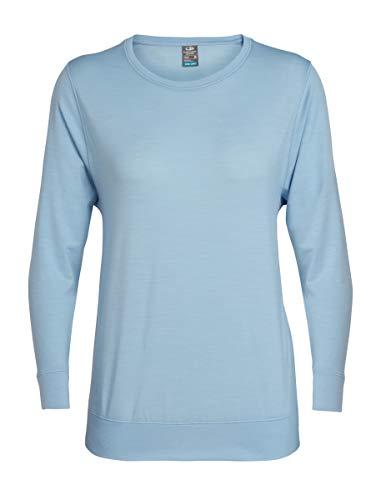 Icebreaker Mira T-Shirt Manches Longues à col Ras-du-Cou Femme, Sky Modèle S 2019 t Shirt Manches Longues