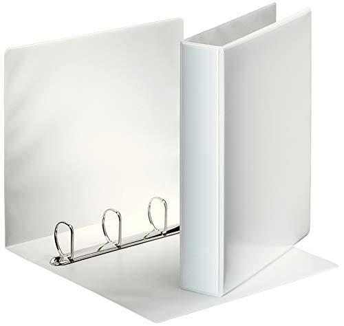 Esselte Group 49704 Essentials - Archivador para presentación (con anillas personalizable, A4, capacidad para 140 hojas, cartón recubierto de polipropileno, anillas 40mm), color blanco