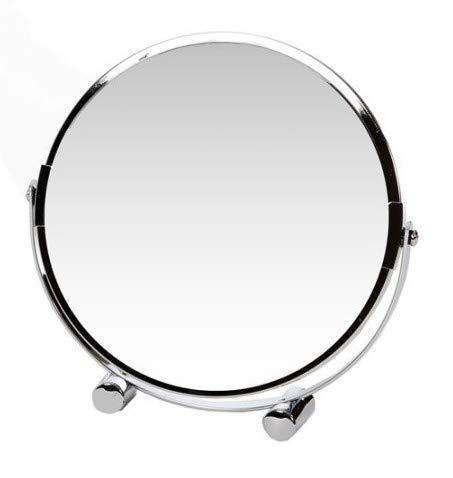 TETI`S Ducks Home - Espejo Doble Cara para Maquillaje, Afeitado, depilación, Cuidado y Limpieza Facial, etc. Espejo Redondo de baño, con Aumento, Espejo pequeño Ideal para Viajar o Usar en el hogar.