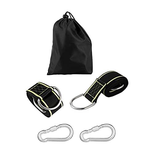 Kesilian Balancez Sangle Polyester hamac Boucle Portable Balançoire extérieur Corde Ceinture pour l escalade Camping