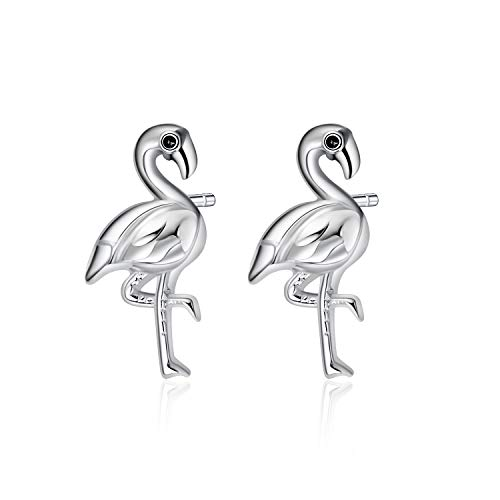 925 Silber Ohrringe Stecker Damen,Prämie Rose Gold Silber Schmuck Geschenke Flamingo Ohrringe für Damen Mädchen Mutter Tochter (Flamingo)