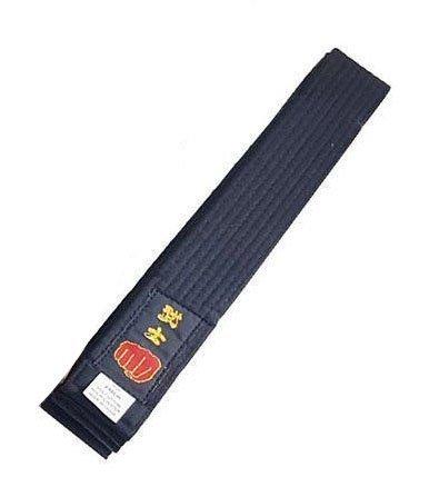 Longford Store UK - Cinturón para Karate, Artes Marciales, Taekwondo, Judo, Kickboxing, Ju-Jitsu, Shotokan, Talla Junior/Senior, Karate Belt, Negro, Junior 240cm