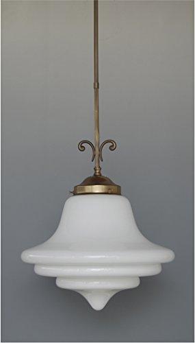 LMS Leuchten Pendelleuchte P 19-10 mit Glas C-36 Jugendstil Deckenlampe Hängeleuchte Wohnraumleuchte
