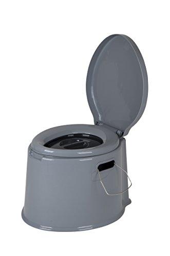 Bo-Camp Tragbare Toilette, 7 l, Grau