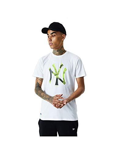 New Era MLB Infill Team Logo Tee Neyyan T-Shirt Linie New York Yankees Herren XL weiß