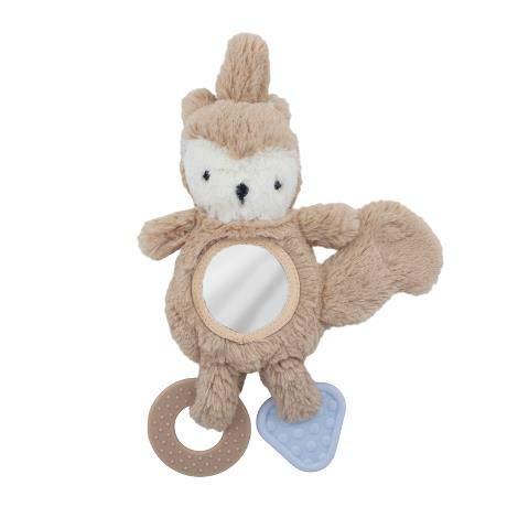 Sebra Juguete de actividad para silla de bebé, ardilla Zappy beige, Woodland, 32 cm, a partir de 0 meses