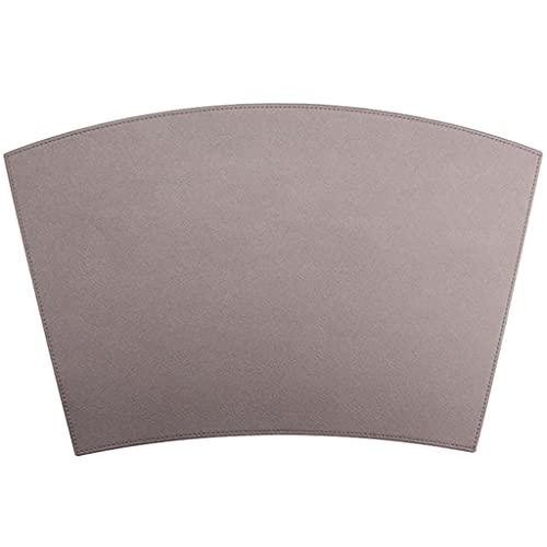 Mantel Individual Mesa Manteles Nórdicos para Banquetes, Mantel Individual De Cuero Antideslizante para Boda, Mantel Individual Elegante para Regalo (Color : Brown, Size : 50 * 32 * 0.2cm)