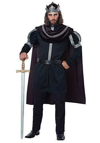 California Costumes Men's Plus-size Dark Monarch - Adult Plus Men Costume Adult Costume, -black/Silver, Plus