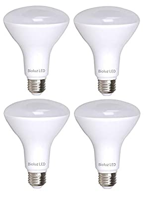 Bioluz LED BR30 Bulb Non Dimmable 65W Equivalent 2700K Warm White LED Floodlight UL Listed…