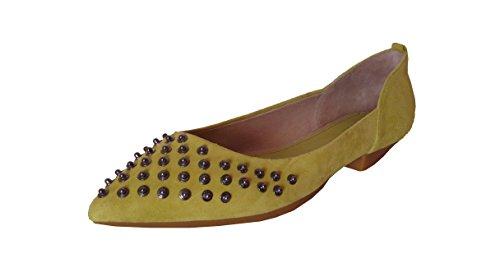 Diesel Porcupine G00905 (29) Damen Leder Ballerina, gelb, EU 39