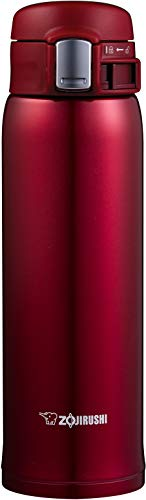 Zojirushi SMSD48RC Stainless Steel Vacuum Insulated Mug 16Ounce New Clear Red