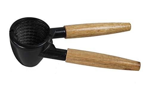 GMMH Nussknacker schwere Qualität 17 cm Holzgriff Eisengusskopf Nusszange Nussöffner Nussbrecher