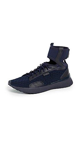 PUMA Women's Fenty x PUMA Trainer Mid Geo Sneakers, Evening Blue/Puma Black, 9 M US