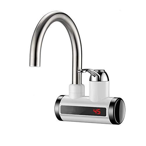 Directe verwarming kraan-elektrische warmwaterkraan verwarming water met digitale LED-display voor keuken, badkamer, bijkeuken 23cm