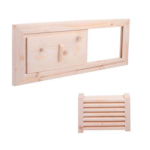 Cabilock Persianas de Ventilación de Madera para Sauna Ventilación de Rejilla Sala de Vapor Accesorios de Sauna para Sauna Baño de Vapor Piscina