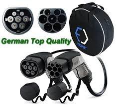 Phoenix Contact Super deutsch EV Ladekabel TYP 2 (Mennekes) | 16 A | 1-phasig | Länge 5 m | 3,6 kW + kostenfrei kompakte Tasche