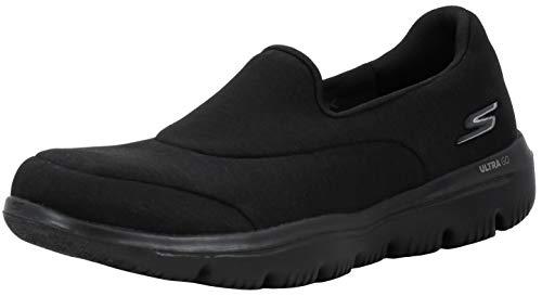 Skechers Women's GO Walk Evolution Ultra-Amazed Sneaker, Black/Black, 8 M US