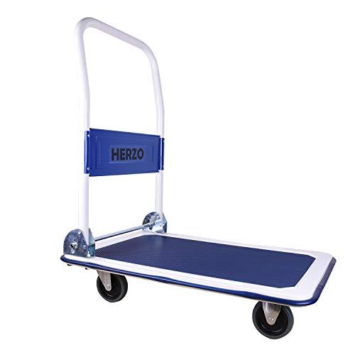 Carrello con Pianale con manico Pieghevole, portata fino a 150 kg per trasporto magazzino