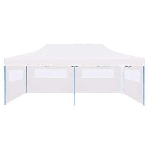 Ausla Gazebo Richiudibile 3 x 6 m Pieghevole Gazebo Pieghevole Impermeabile e ai Raggi UV Tenda Padiglione da Giardino con 3 Pareti Laterali per Campeggio, Barbecue, Feste