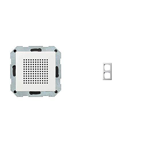Gira 228203 Zusatz-Lautsprecher zum RDS Radio ST55, reinweiß-glänzend & 021203 Rahmen 2-fach ST55, reinweiß-glänzend