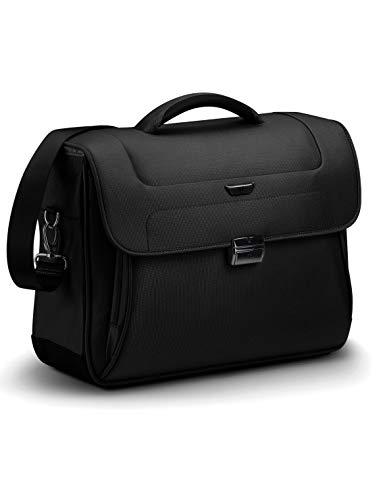 RONCATO Work borsa porta pc & tablet 2 comparti con tracolla Nero