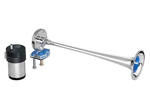 Hochsee Bootsfanfare Signalhorn Nebelhorn tiefer Ton 310 Hz 12 Volt verchromt