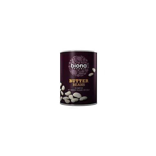 Biona Organic Butter Beans 400g (Pack of 6 )