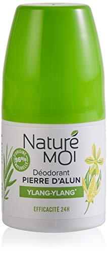 Naturé Moi – Déodorant ylang-ylang naturel à la pierre d'alun pour femmes – Efficacité 24h – Lot de 4 – 50ml