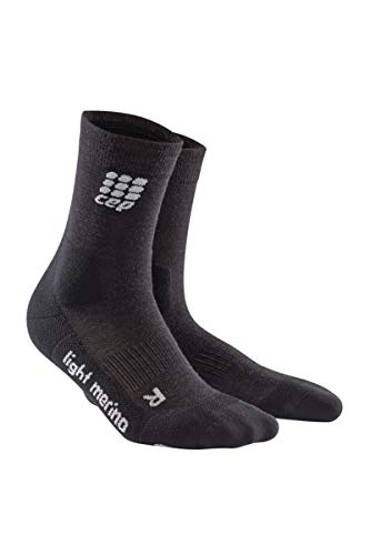 Men's Crew Outdoor Light Merino Socks - CEP Mid Cut (Lava Stone) V