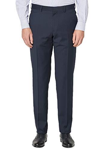 s.Oliver BLACK LABEL 02.899.73.4474 Pantalones de Traje, Azul (Blue Pin Stripe 59j1), W22 (Talla del Fabricante: 44) para Hombre