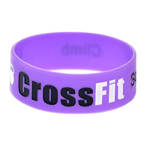 HSJ 2 Unids Crossfit Squat Jump Silicone Muñeca Banda Fitness Deportes Pulsera Spot Perfectly Inspire Fitness, Baloncesto, Sports Buscando, Ejercicio Y Tareas,Púrpura