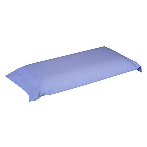 Pikolin Home - Funda de almohada 100% algodón, transpirable y de 140 hilos calidad extra en color azul claro