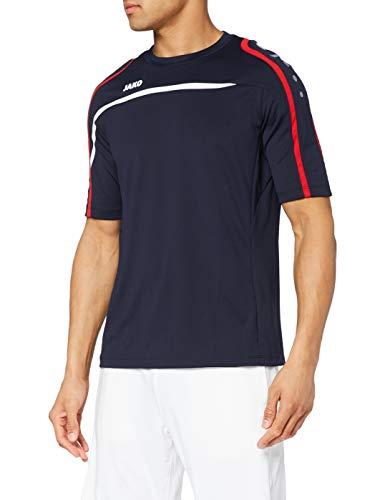 JAKO T-Shirt Performance pour Homme L Bleu Marine/Blanc/Rouge.