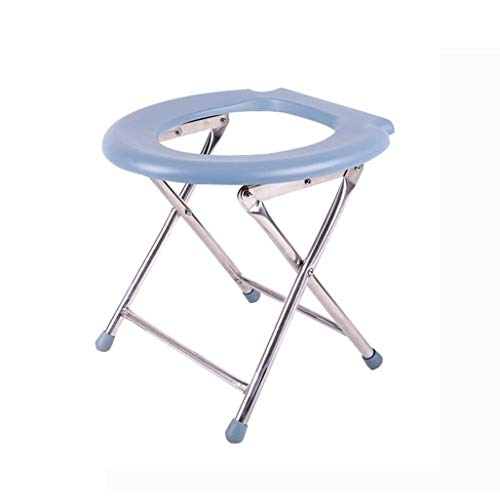 ZXY-NAN Bathroom Wheelchairs Bath Stools Bathroom Stools Foldable Shower/Bath Stools Stainless Steel Commode Chair Shower Seat Stool Folding Aisle Chair for Elderly/Disabled/Pregnant Women Anti-Slip M