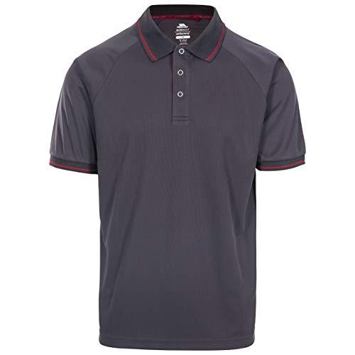 Trespass Bonington T-Shirt à Manches Courtes Anti-moustiques à séchage Rapide avec Protection UV pour Homme M Gris foncé