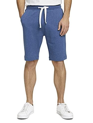 TOM TAILOR 1026023 Sweatpants Bermuda, 18008-After Dark Blue White Melangé, XL Homme