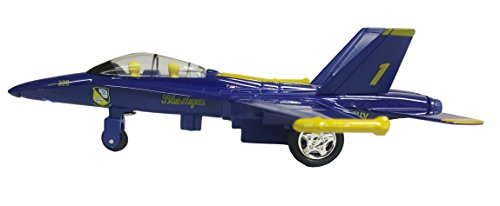 6' X-Planes US Navy F-18 Hornet Blue Angels Jet Toy with Pull Back Action