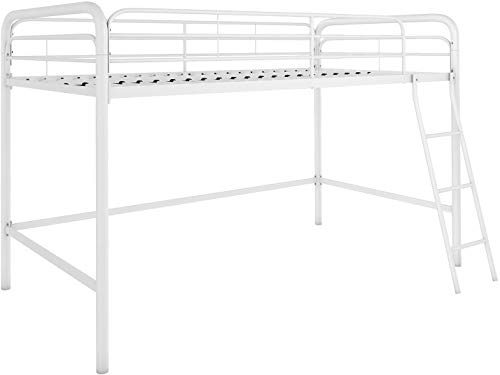 DHP Junior Loft Bed Frame With Ladder, White