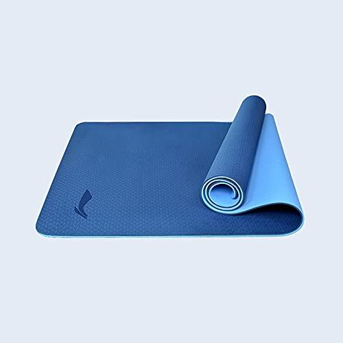 YAYS Estera de Yoga,Colchoneta de Ejercicios,Tapete de Yoga Antideslizante,ntideslizantes y duraderas,Lightweight & Easy Carry,Doble Cara,Bicolor y Antideslizante,Espesor ÓPTIMO